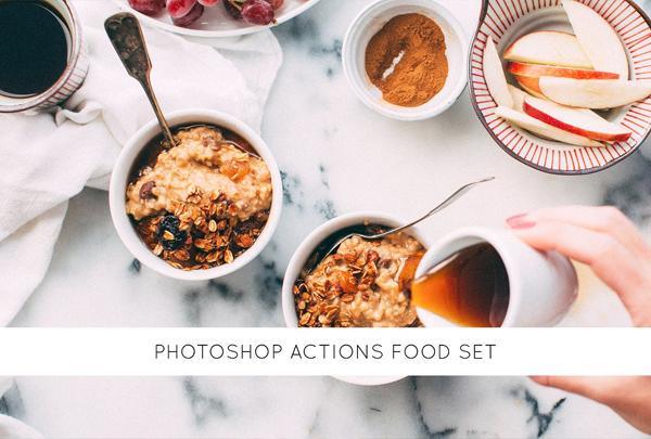 Photoshop Actions Food Set