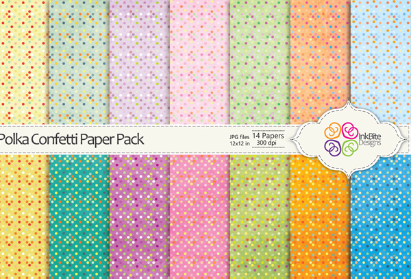 Polka Confetti Paper Pack Textures