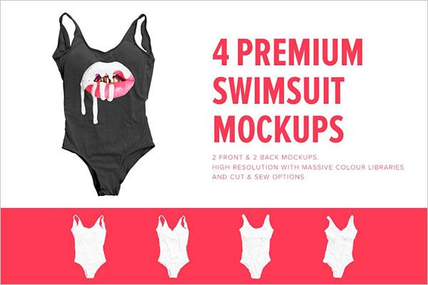 Premium One Piece Swimsuit Mockups