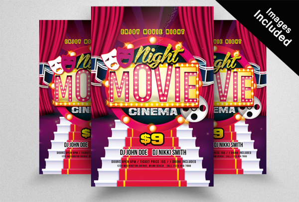 Printable Movie Theater Flyer Templates