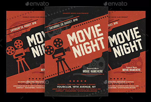 Print Ready Movie Night Flyer