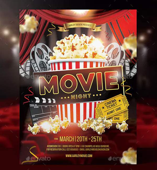 Printable Movie Night Flyer