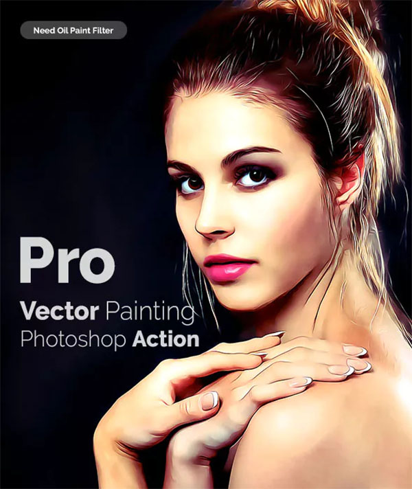 Pro Vector Painting Photoshop Action