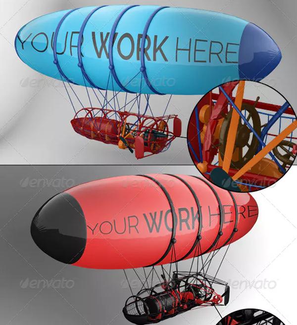 Professional Balloon Mock-up