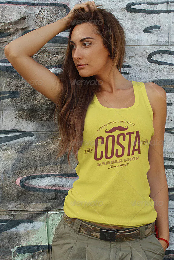 Professional Female Tank Top Mockup