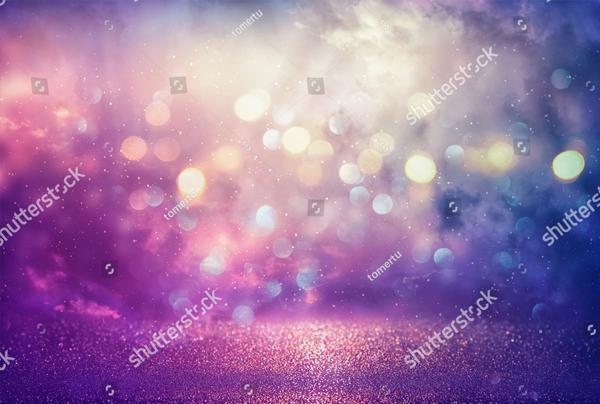 Purple Glitter Lights Background Texture