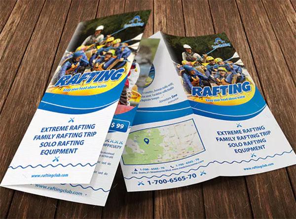 Rafting Camp Bifold Brochure