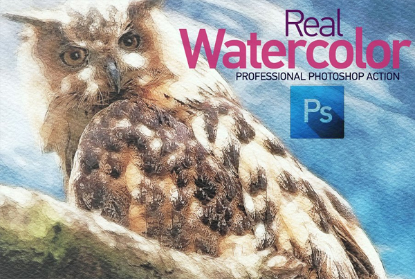 Real Watercolor Photoshop Action