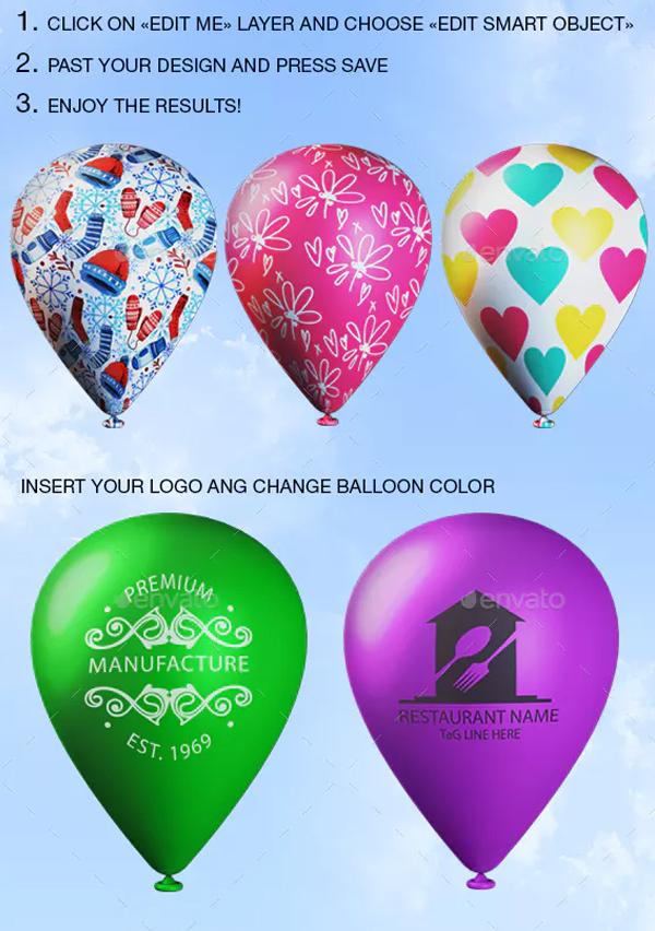 Realistic Balloon Mock-up