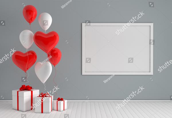 Realistic Balloons Mock up