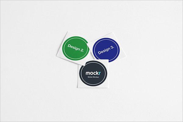 Realistic Sticker Mockup PSD