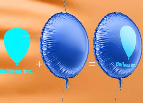 Round Balloon Mock-up