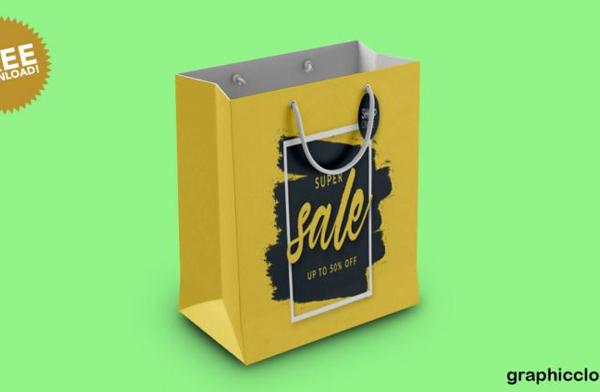 Shopping Bag Mockup PSD Free Download