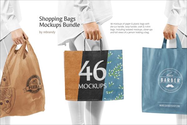 Shopping Bags Mockups Photoshop Templates Bundle