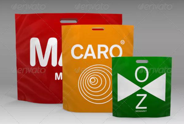 Shopping Plastic Bag Mock-Up