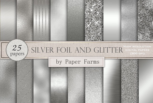 Silver Foil and Glitter Texture