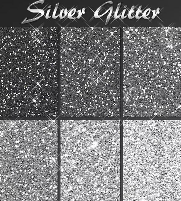 Silver Glitter Pack Textures