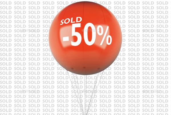 Simple Advertising Balloon Mock-Up