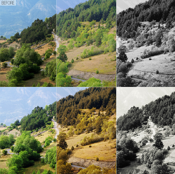 Simple Color Correction Photo Actions