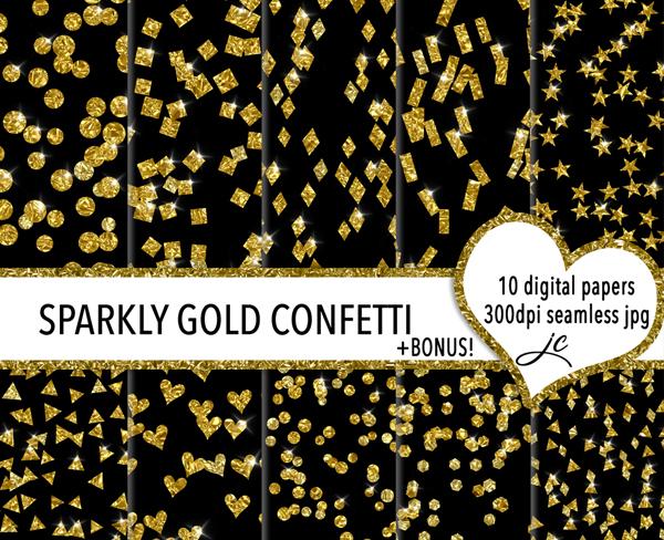 Sparkly Gold Confetti Texture