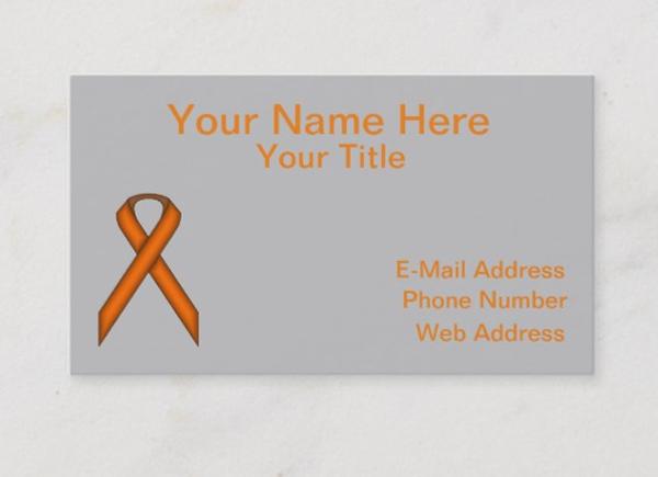 Standard Ribbon Business Card