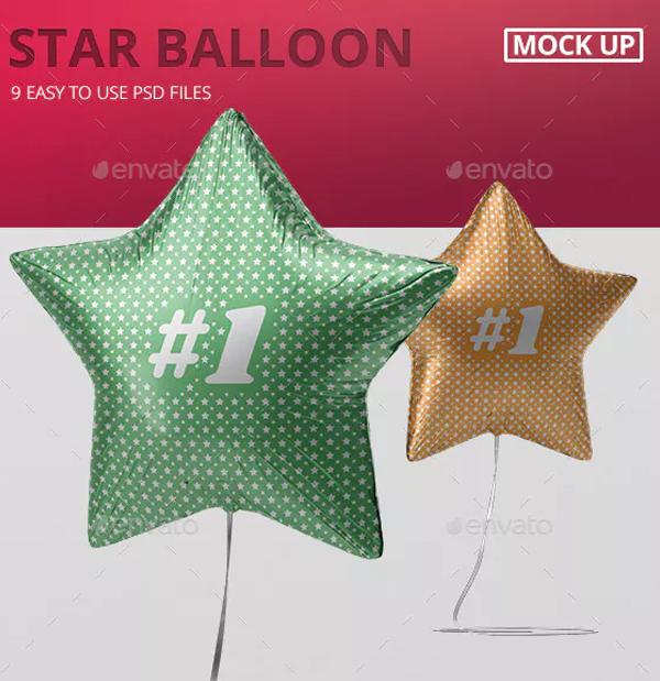 Star Balloon Mockup