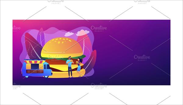 Street Food Concept Banner