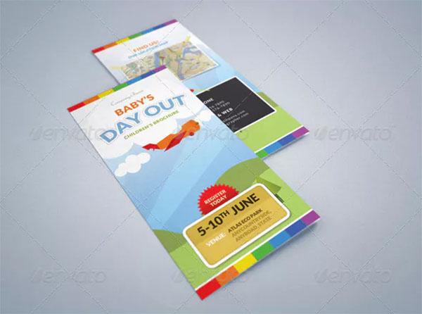 Summer Camp Kids Tri-Fold Brochure