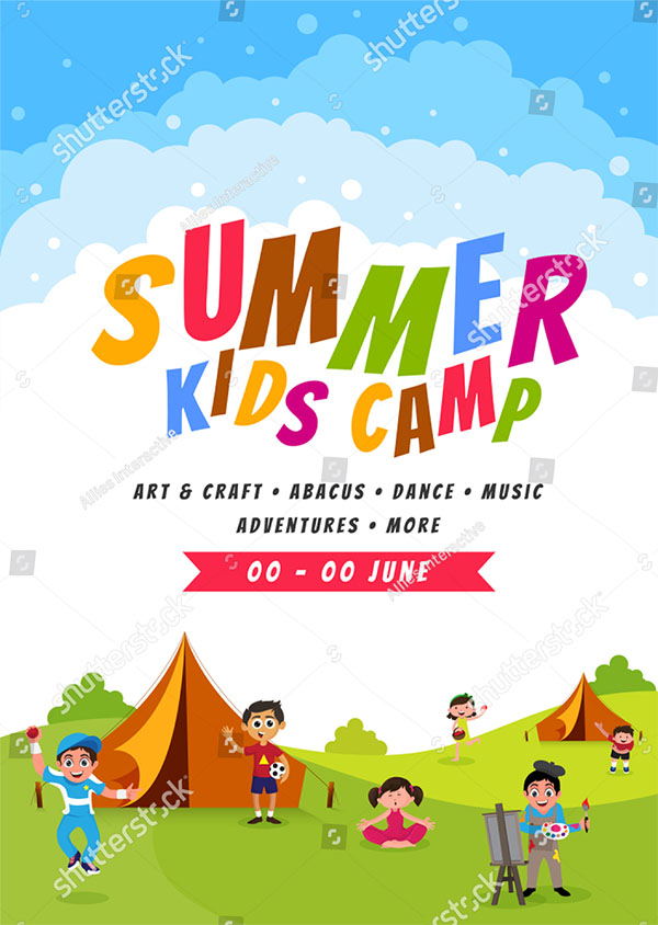 Summer Camp Vector Brochure