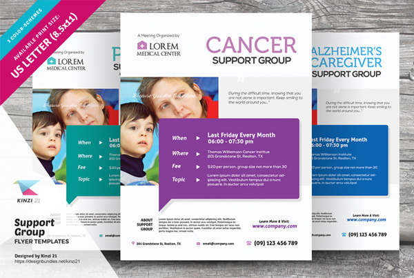 Support Group Flyer Templates