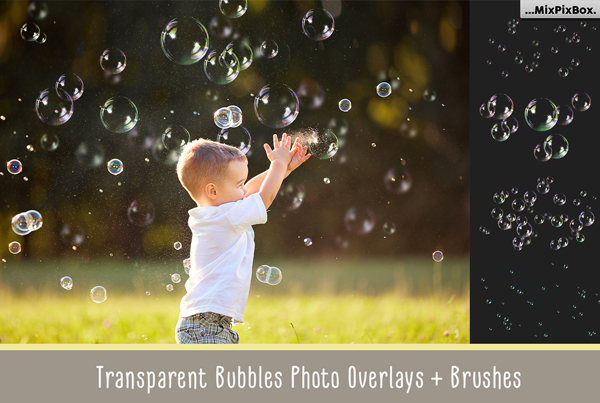 Transparent Bubbles Overlay Brushes Styles