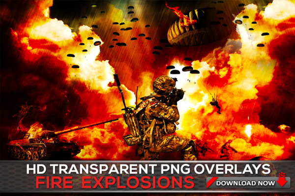 Transparent PNG Fire and Explosion Overlays