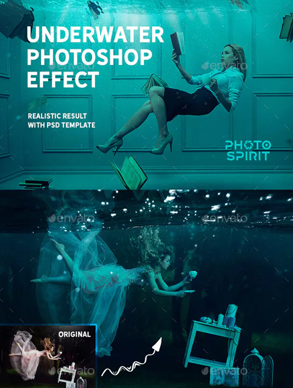Underwater Photoshop Effect Overlays