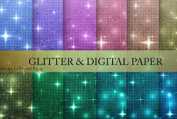 Glitter Valentine Textures