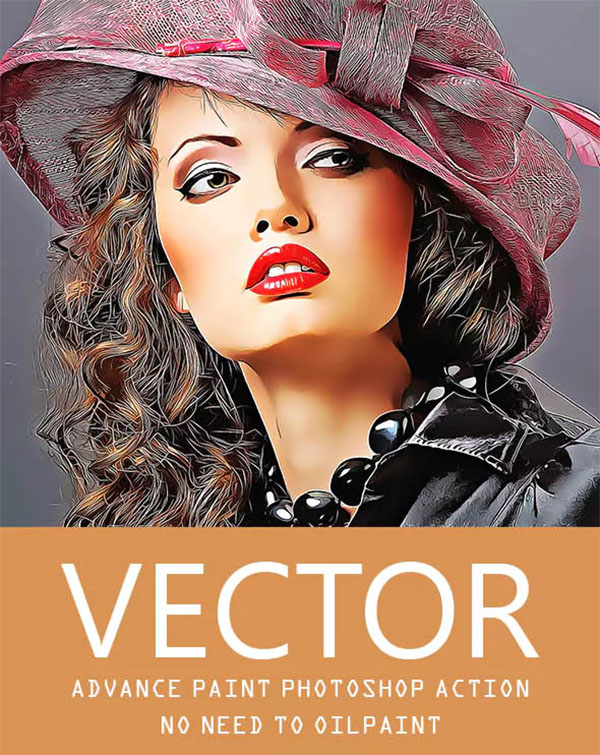 Vector Advance Painting Photoshop Action