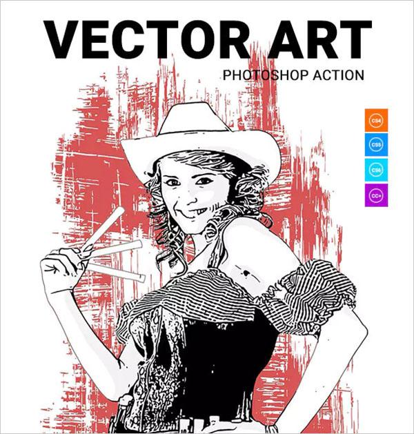 Vector Art Photoshop Action Design