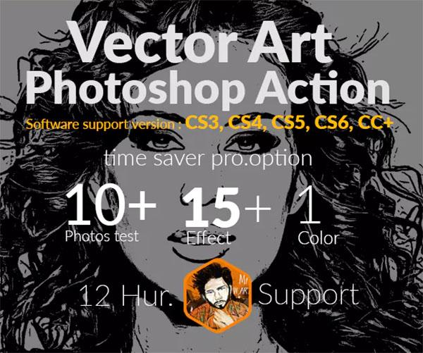 Vector Art Photoshop Actions