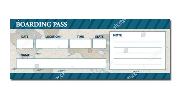 Vector Boarding Pass Invitation