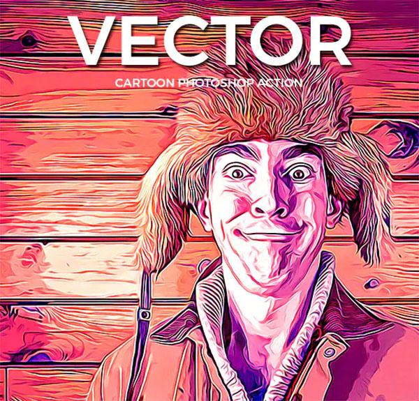 Vector Cartoon Photoshop Action