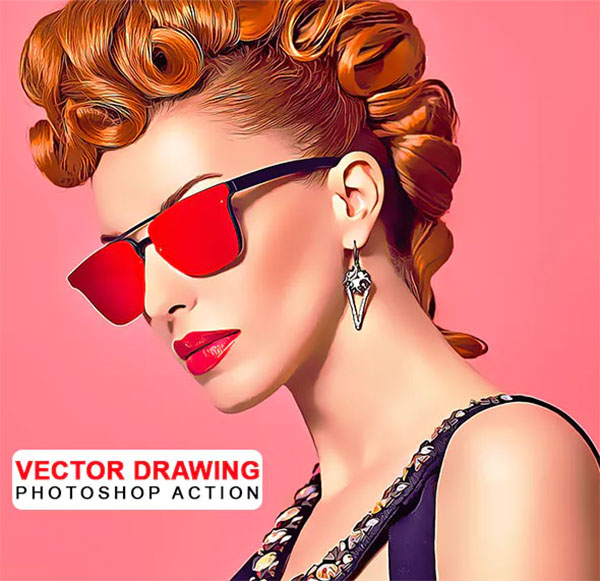 Vector Drawing Photoshop Actions