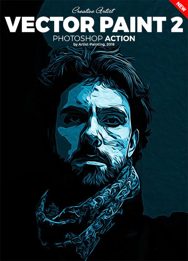 Vector Paint 2 Photoshop Action