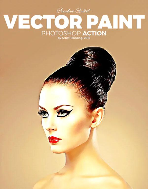 Vector Paint Photoshop Actions
