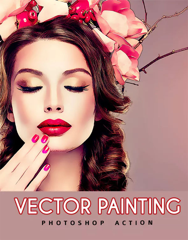 Vector Painting Photoshop Action Design
