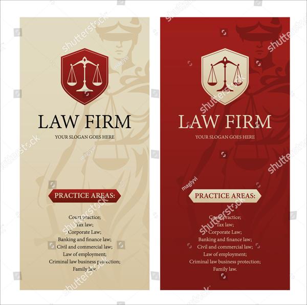 Vertical Design Law Brochure Template