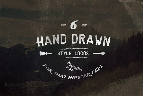 Vintage Hand Drawn Style Logos