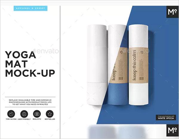 Yoga Mat Mock-up Design