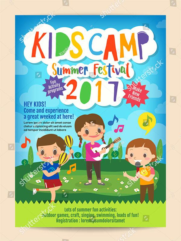 Kids Summer Camp Education Advertising Brochure