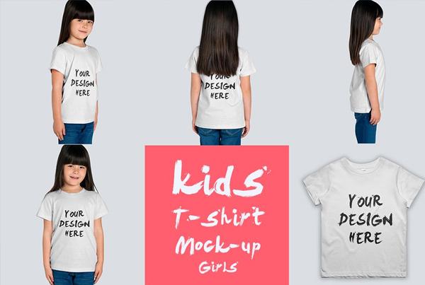 kids T-shirt Modern Mock-up