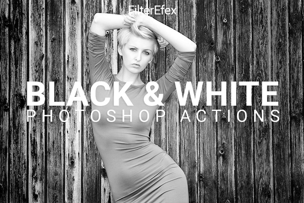 20 Stylish Black & White Photoshop Actions