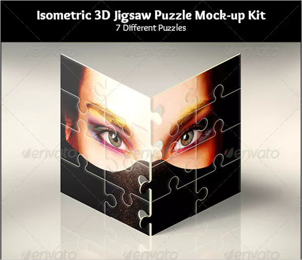 3D Jigsaw Puzzle Mock-ups Kit